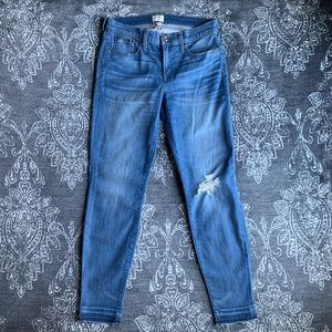 J. Crew Toothpick Drop Hem Skinny Jeans Size 29